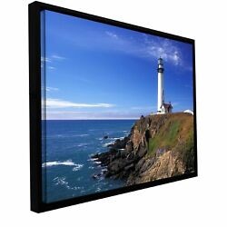 Kathy Yates And039pigeon Point Lighthouseand039 Floater-framed Small