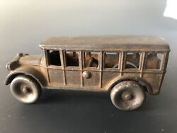 Arcade Cast Iron 812 Truck Bus Antique Toy As Is W Crack