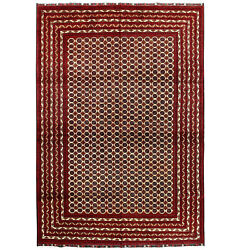 1296 Super Quality Tribal Hand-knotted Beige Color Large Area Rug 291 X 196 Cm