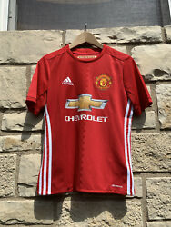 Adidas Manchester United Soccer Jersey Youth Large