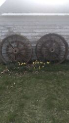 Antique 1894 Buffalo Pitts Steam Tractor Wheels