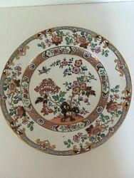 5 Antique Hand-painted Ashworth Ironstone Plates In Pattern 5522
