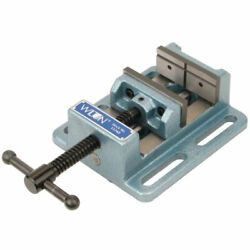 Wilton Tools 8 Inch Low Profile Cast Iron Drill Press Vise With Steel Jaw