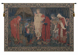The Adoration Of The Magi Border Belgian Tapestry Wall Art Hanging 57x78 Inch
