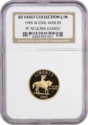 1995-w Civil War 5 Ngc Pr 70 Ucam - Modern Commemorative Gold