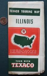 1938 Texaco Skychief Gas And Motor Oil Service Station Touring Illinois Road Map