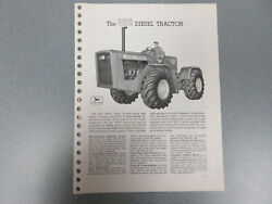Rare John Deere 8010 Tractor With Features And Options Brochure 13 Page