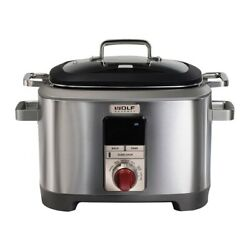 Wolf Gourmet Wgsc100s 7qt Multi Cooker - Stainless Steel/red Knob