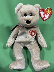 Rare Ty Beanie Babies Baby 1999 Signature Bear Mint Condition Retired Pe Pellets