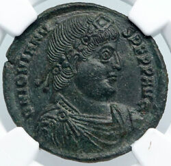 Jovian Authentic Ancient 363ad Thessalonica Ae1 Genuine Roman Coin Ngc I88899