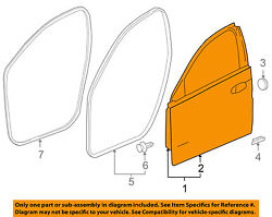 Buick Gm Oem 11-16 Regal Front Door-shell Frame Panel Left 20987623