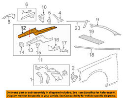 Chevrolet Gm Oem 10-15 Camaro Fender-lower Rail Left 22923385