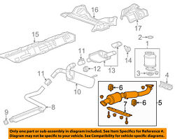 Buick Gm Oem 12-17 Verano 2.4l-l4 Exhaust System-front Pipe 23160261
