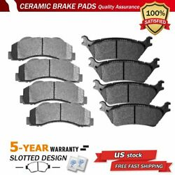Front And Rear Ceramic Disc Brake Pads For 2012 2013 2014 2015 2016 2017 Ford F150