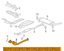 Saturn Gm Oem 06-07 Vue 2.2l-exhaust System-catalytic Converter And Pipe 15842643