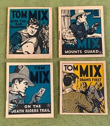 1934 Collection 12 Tom Mix Gum Booklets Adventure Stories National Chicle Ex