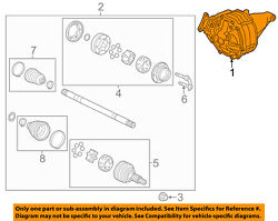Cadillac Gm Oem 08-11 Cts Rear Differential-carrier 25979053