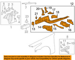 Cadillac Gm Oem 16-18 Cts Fender-lower Rail Assembly Left 23222828