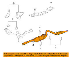 Gm Oem-exhaust System-muffler Tail Pipe 25940550