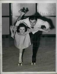 1941 Press Photo Mary Keating And Donald Homans In National Roller Skating Champ.