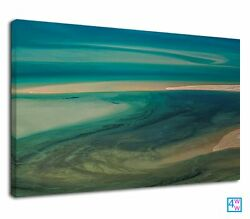 Abstract Ocean and beach for digital art Canvas Wall Art Picture Print GBP 38.99
