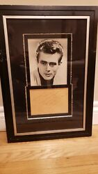 Rare Framed James Dean Autograph And Picture