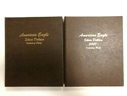 Dansco 8181 And 8182 American Silver Eagle Coin Albums Including Proof Vol 1 And 2