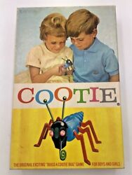 Vintage 1949 Schaper Cootie Bug Game With Box Very Nice Condition