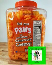 Chester's Paws Cheddar Puffs Delicious Big Jumbo Container Dangerously Cheesy⚡🚚