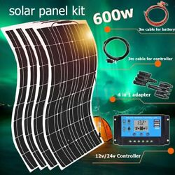 Solar Panel Kit Charger Solar Cell Phone Battery Car Rv Caravan Boat Home System