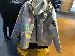 Nwt 2019 Disney Parks Epcot Holographic Silver Jacket Spaceship Earth L