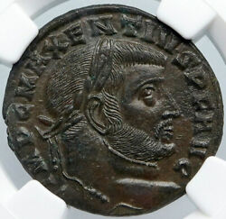 Maxentius Authentic Ancient 308ad Rome Genuine Old Roman Coin Temple Ngc I88881