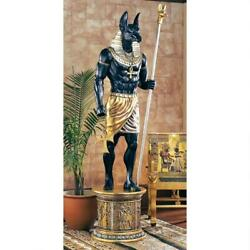 Egyptian God Anubis Grand Ruler Collection Life-size Statue With Stand