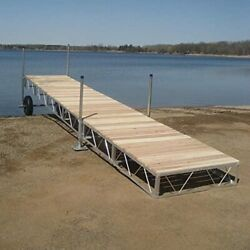 Patriot Docks Straight Roll-in Boat Dock Cedar Decking16ft 24ft 32 Ft 40ft 48ft