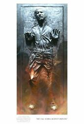 Star Wars Han Solo Bounty Life Size Giclee Art Print On Canvas Limited Edition