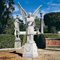 Life Size 6 1/2 Foot Tall Grand Cathedral Angel Garden Sculpture