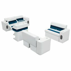 Wise Pontoon Marine Fishing Small Bench Boat Seat Set Complete Group Set