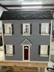 Custom Full Size Barbie Doll House With Battery Powered Lights. 1/6 Scale Barbie