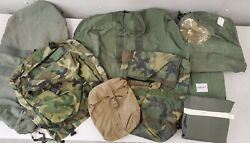 Army Military Bag Backpack Pouch Kit Flyer Surplus Lot Cd289