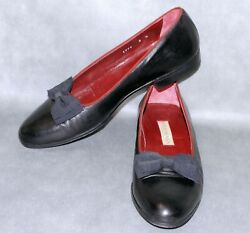 Gorgeous 9 N Italian Cole Haan Black Rare Opera Bow Formal Loafer Mens Shoes