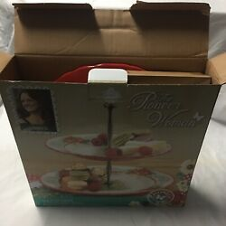 Pioneer Woman Holiday Cheers Two Tier Ceramic Server Christmas Tree Small