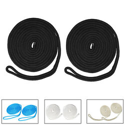 Realplus 2 Pack Of 3/8 X20' Double Braid Nylon Dock Line,mooring Rope For Boat