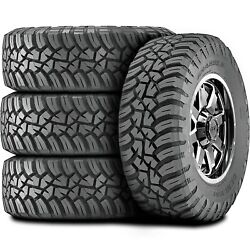 4 New General Grabber X3 Lt 35x12.50r20 Load E 10 Ply Mt M/t Mud Tires