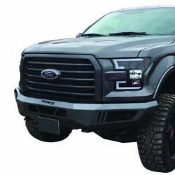 1pc Not Tubular Bumper [w/light Cutouts W/o D-ring Mount] For 15-17 Ford F-150