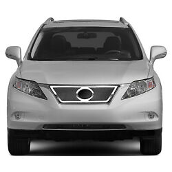 Premium Fx Chrome Top Wide Woven Mesh Grille Insert For 2010-2012 Lexus Rx350