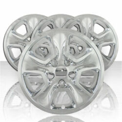 Set Of Four 17and039 Chrome Abs Wheel Skin Covers For 2014-2020 Jeep Grand Cherokee