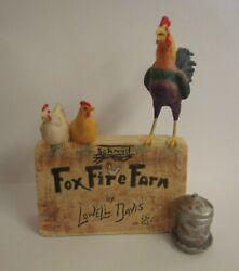Lowell Davis Rare Counter Sign Foxfire Farm With Rooster And Chickens