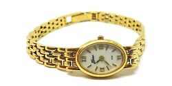 Ladies Belair 14k Gold Wrist Watch 6.5 Long Mother Of Pearl Dial Panther Link