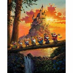 Seven Dwarfs Oil Painting By Numbers Kit Landscape Diy Acrylic Modern Home Decor
