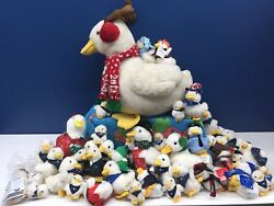Used Lot 50 Talking Aflac Duck Plush Toys Xmas Holiday Keychains 4 To 19
